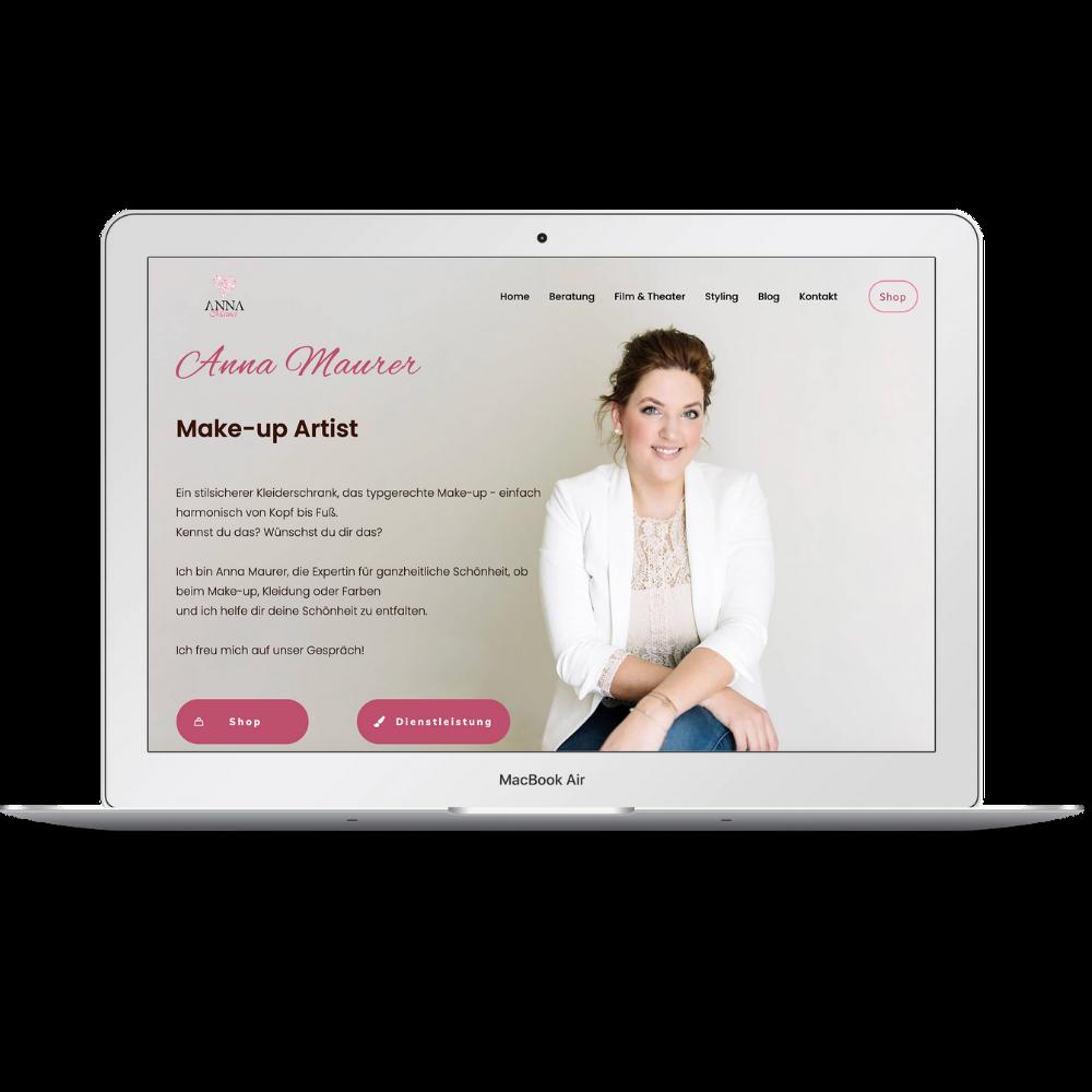 website relaunch anna maurer | Die WP-Meister
